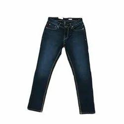 Solid Casual Wear Mens Blue Denim Jeans, Waist Size: 30