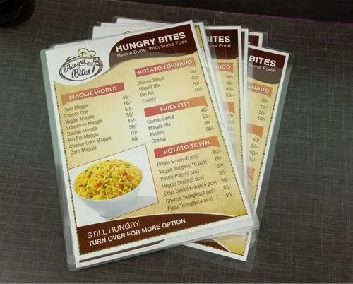 2d 1 Days Restaurant Menu Card Design Services Home Delivery Id 14055416433