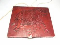 Elephant Embossed Leather Bound Diary