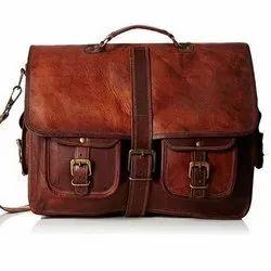 Twobros Brown Goat Leather Sling Bag
