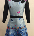 Blue Frock With Print