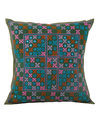 Sequins Work Colorful 100% Cotton Patchwork Cushion Cover