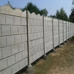 Cement Block Compound Wall