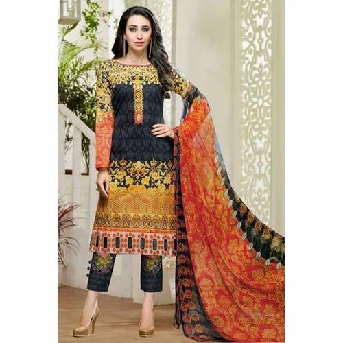 d039fc572a Ladies Chiffon Party Wear Suit, Size: M & L, Rs 1500 /piece | ID ...