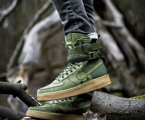 Men Military green Nike Airforce 1