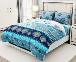 Printed Designer Twill Cotton Double Bed Sheet, For Home, 2 Pillow Cover And 1 Bedsheet