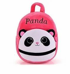 Krently pink Panda Soft Plush Backpack for Small School Kids Nursery-(Yellow, 10 L)