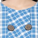 Buttoned Up Cotton Blue Midi Dress