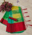 Colorful Satin Polyester Saree