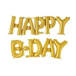 Happy B.Day Foil Balloon - Golden & Silver - Best Product for Birthday Event