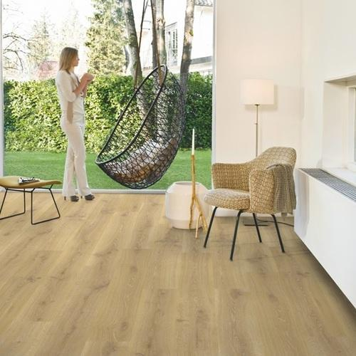 Wood Quickstep Tennessee Oak Natural Laminate Flooring, 7 Mm