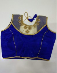 Royal Blue Art Silk Handwork Blouse