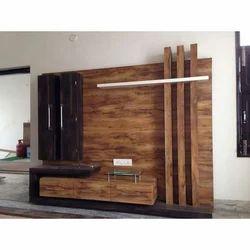 Wooden Brown Modular Tv Stand Set Rs