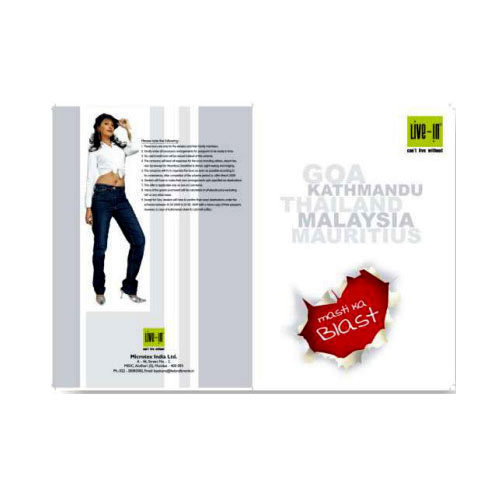 single fold brochure cover printing service in kolkata mahua art