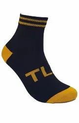 Men's Blue Cotton Socks
