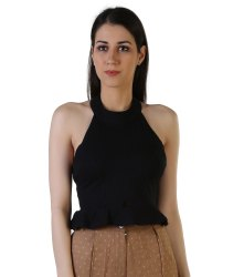 Black Casual Girls Top(Cash On Delivery)