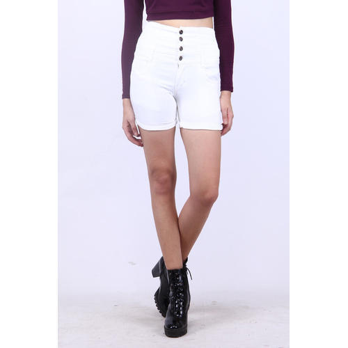 hot-selling professional hot sales quality Women White Denim Shorts