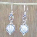 Rainbow Moonstone Unique Jewelry 925 Sterling Silver Earring We-5436