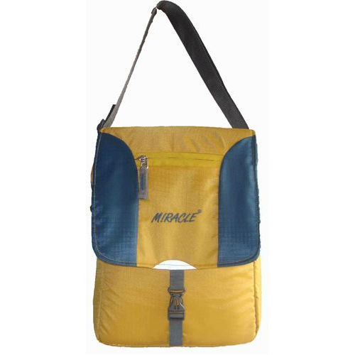 705856370467 Miracle Yellow And Blue Plain Sling Bag