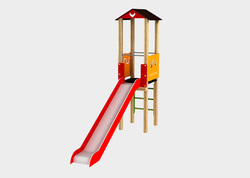 FRP Rooftop Playground Slide