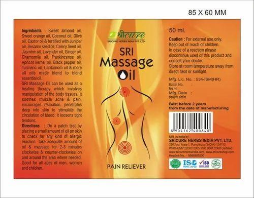 Sricure Herbs Sri Massage Herbal Massage Oil, Pack Size -3945