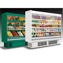 Green And White Stainless Steel Multi Deck Plug In Open Chiller, +2 To +8 Degree Celcius