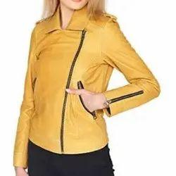 Women Round Ladies Leather Jackets