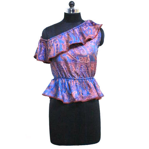Large Jamawar Weaved Ladies Fancy Top