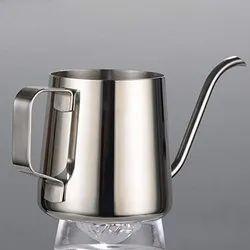 Stainless Steel Gooseneck Long Spout Kettle Serving Milk Tea Pot 10 Oz