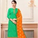 Cotton Jacquard Salwar Suit