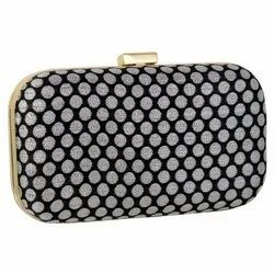 Craft Zen Black And Grey Ladies Polka Dot Clutch Bag