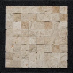 Pink Marble Block Pattern Wall Mosaic, 8 - 10 Mm
