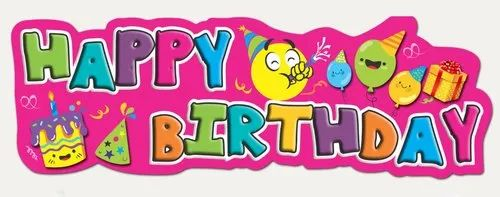 Paper Birthday Wall Decor Craft, Packaging Type: Packet