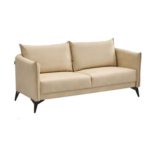 Cream 2 Seater Leather Sofa