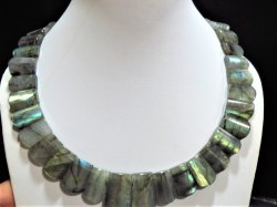 Exquisite Labradorite Cabochon Stone Necklace