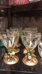 Transparent Designer Drink Glass, Capacity: 100 ml