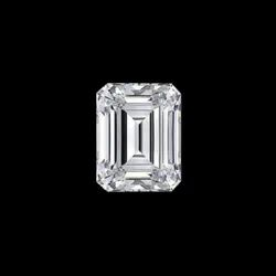 Emerald Cut White Colorless Moissanite Stone