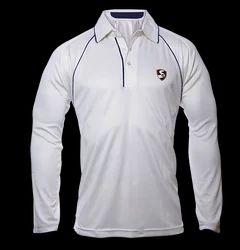 SG Cricket White Premium Full Sleeves T-shirt