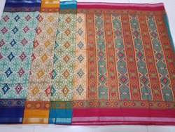 Ladies Printed Chanderi Silk Saree
