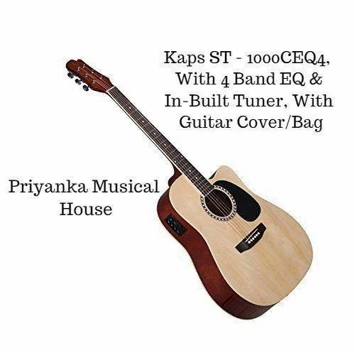 e0e62227cc1 Priyanka Musical Rosewood Fingerboard & Bridge Kaps ST 1000CEQ4, With Guitar,  Model No.