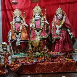 Standing Marble Ram Darbar Statue