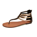 Casual Ladies Trendy Flat Sandals, Size: 36 To 41 (euro Size)