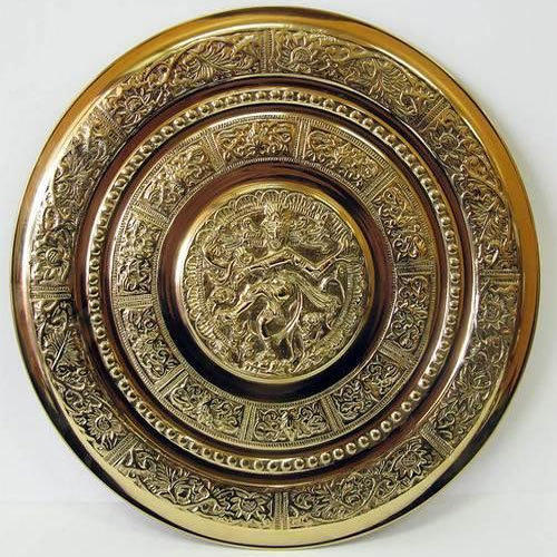 Wall Hanging Metal Brass Wall Plate With Natraja