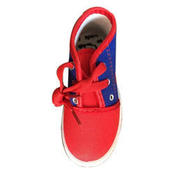 Kids Canvas Red Lace Shoes, Size: 5-10