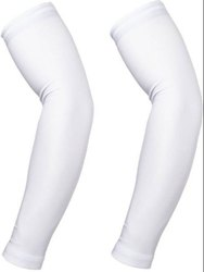 Arm Sleeves White Cotton Arm Sleeves