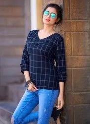 M-L-XL-XXL Half Sleeves Casual Wear Fancy Tops
