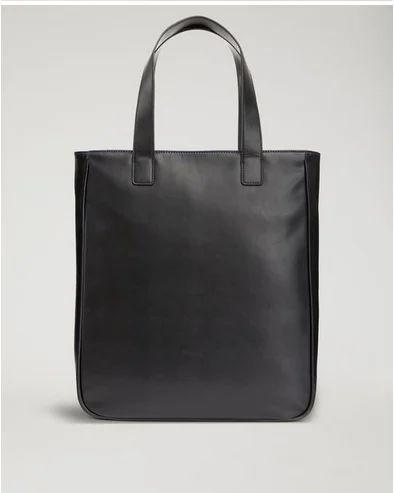 635669e043ba EMPORIO ARMANI BLACK faux leather tote bag with maxi logo y4n092yg90j181072