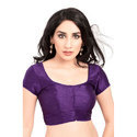 Purple Silk Plain Blouse