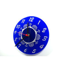 Box Black And Blue And Red Designer Wall Clock