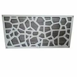 White Decorative MDF Jali, For Interior Or Exterior Decor